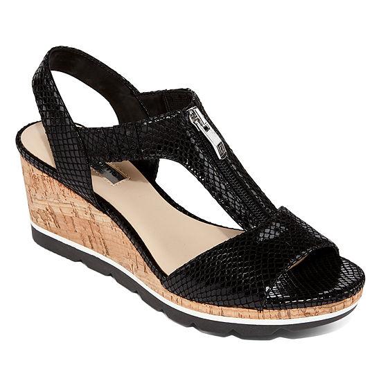 Liz Claiborne Womens Valona Ankle Strap Flat Sandals