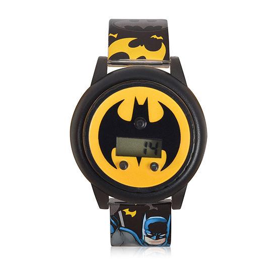Batman Boys Digital Black Strap Watch-Bat4668jc