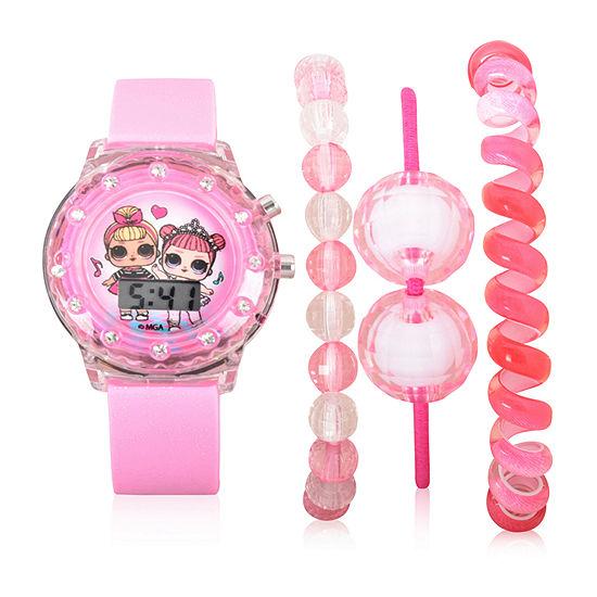 LOL Surprise! LOL Girls Digital Pink Strap Watch-Lol40002jc