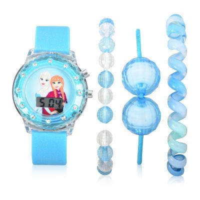 Disney's Frozen Unisex Blue Strap Watch-Fzn40013jc