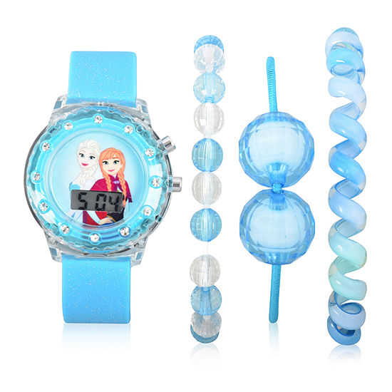 Disney's Frozen Unisex Blue Strap Watch-Fzn40013jc