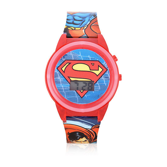 DC Comics Unisex Adult Red Strap Watch-Sup4310jc