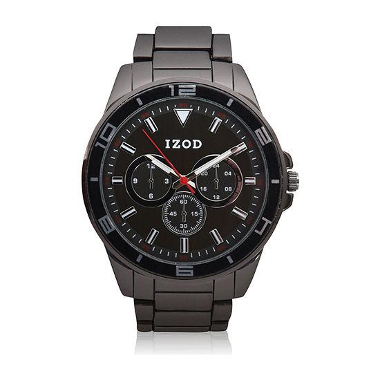 IZOD Izod Mens Black Bracelet Watch-Izo5337jc