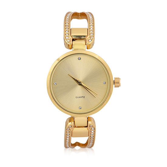 Mixit Bangles Womens Gold Tone Bangle Watch-Wac4498jc