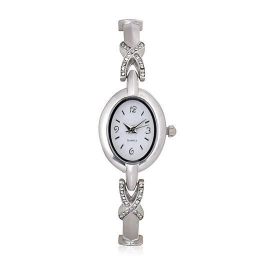 Mixit Expansion Womens Silver Tone Bangle Watch-Wac2046jc