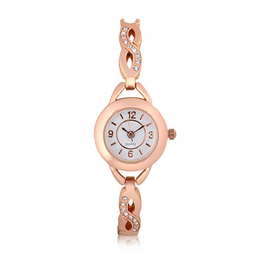 Mixit Expansion Womens Rose Goldtone Bangle Watch-Wac2047jc