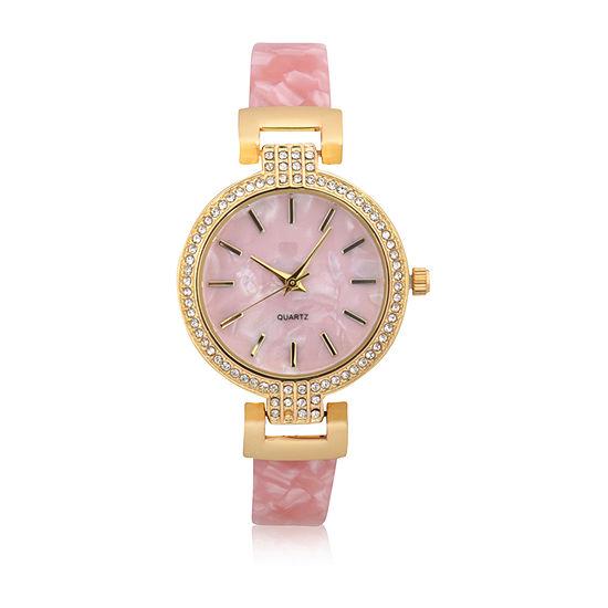 Mixit Bracelet Womens Pink Bangle Watch-Wac4501jc