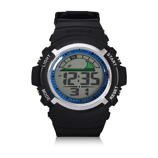 Aubert Freres Sharp Unisex Adult Automatic Digital Black Strap Watch-Shr3019jc