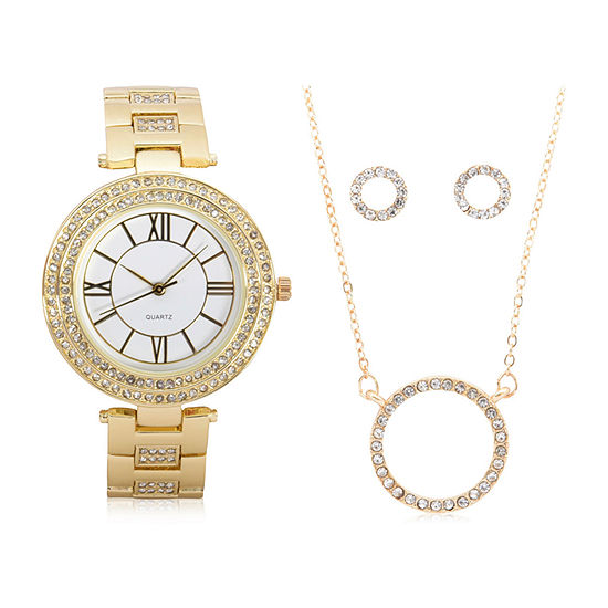 Mixit Sets Womens Gold Tone 4-pc. Watch Boxed Set-Wac7197jc