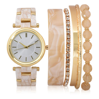 Mixit Sets Womens Gold Tone 6-pc. Watch Boxed Set-Wac7201jc
