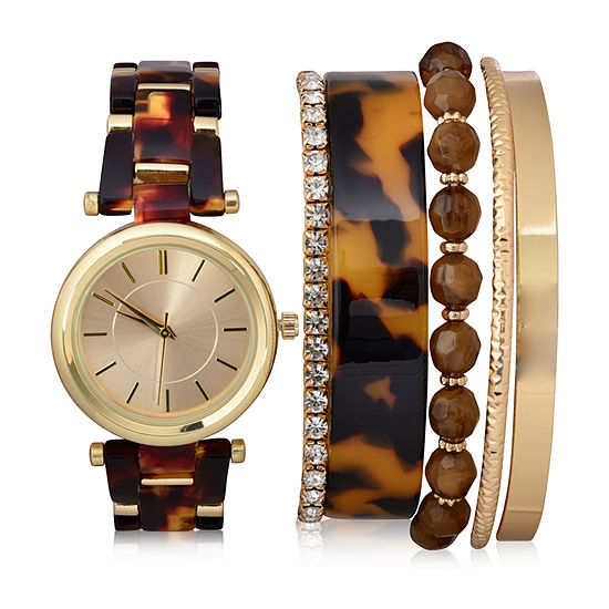 Mixit Sets Womens Gold Tone 6-pc. Watch Boxed Set-Wac7202jc