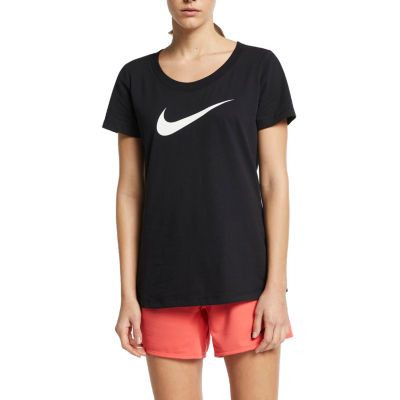 Nike Womens Scoop Neck Short Sleeve Graphic T-Shirt