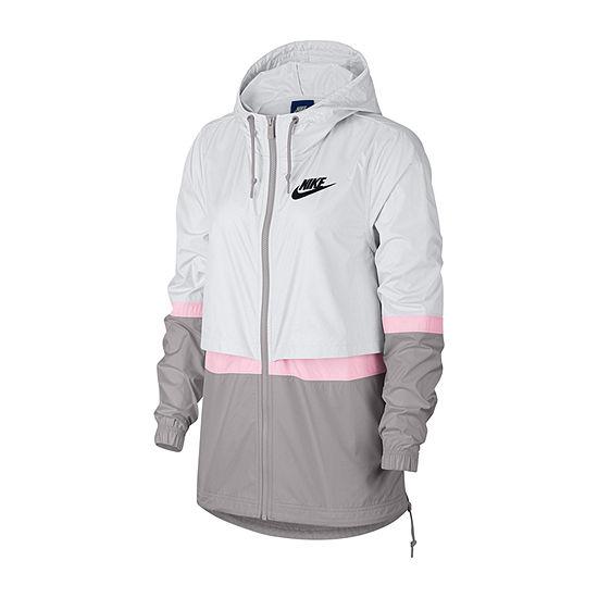 Nike Woven Colorblock Full Zip Jacket Womens