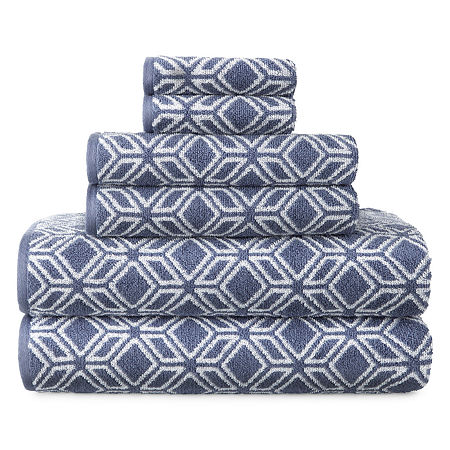 JCPenney Home Tribal Print Bath Towels, One Size , Blue