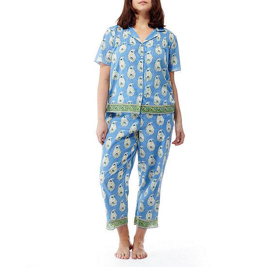 La Cera Short Sleeve Printed PJ Set