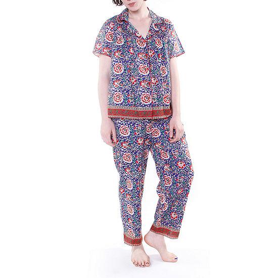 La Cera Short Sleeve Striped PJs