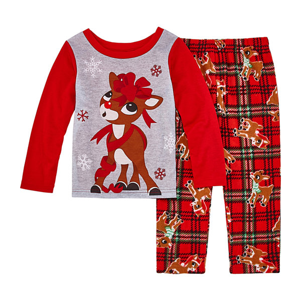 North Pole Trading Co. Rudolph Family Toddler Girls 2-pc. Rudolph Pant Pajama Set