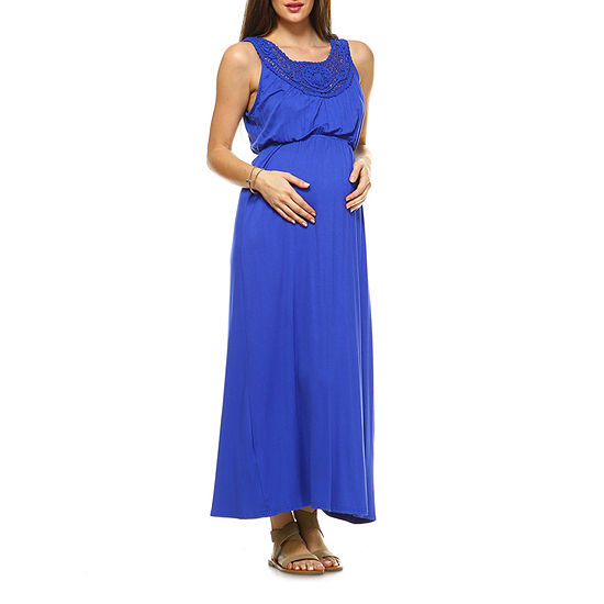 White Mark-Maternity Kadyn Sleeveless Maxi Dress