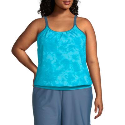 Free Country Tie Dye Tankini Swimsuit Top Plus