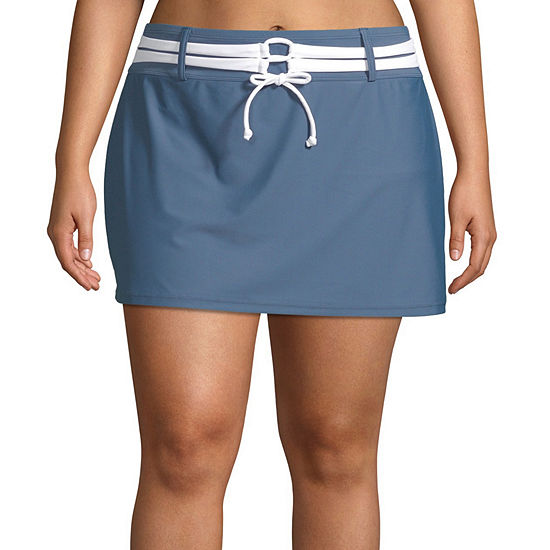 Free Country Swim Skirt Swimsuit Bottom Plus