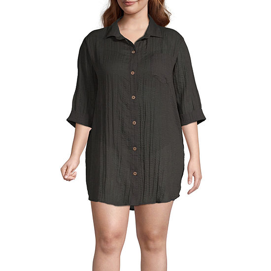 a.n.a Dress Swimsuit Cover-Up Plus