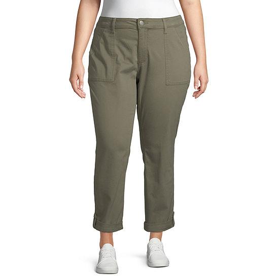 St. John's Bay Womens Cargo Pant-Plus