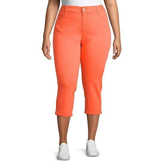 St. John's Bay Mid Rise Plus Cropped Pants