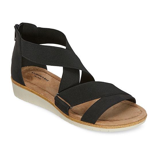 St. John's Bay Womens Flor Wedge Sandals