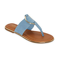 Deals on Liz Claiborne Womens Calayan Flat Sandals