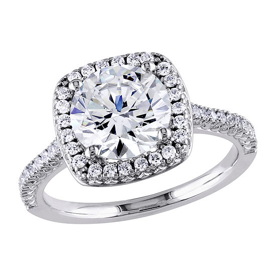 Womens 5 1/4 CT. T.W. White Cubic Zirconia Sterling Silver Engagement Ring