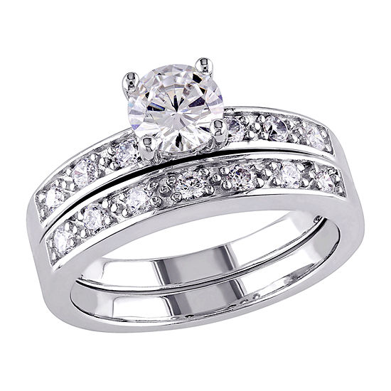 Womens 2 1/3 CT. T.W. White Cubic Zirconia Sterling Silver Ring Sets
