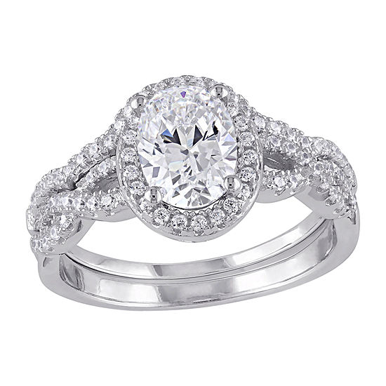 Womens 3 CT. T.W. White Cubic Zirconia Sterling Silver Ring Sets