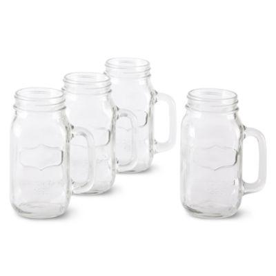Circleware Yorkshire Set of 4 Mason Jar Mugs