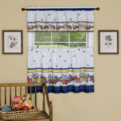 Fruity Tiles 3-pc. Rod-Pocket Kitchen Curtain Set