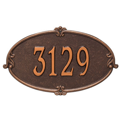 Whitehall Personalized Montecarlo Standard Wall Address Plaque - 1 Line