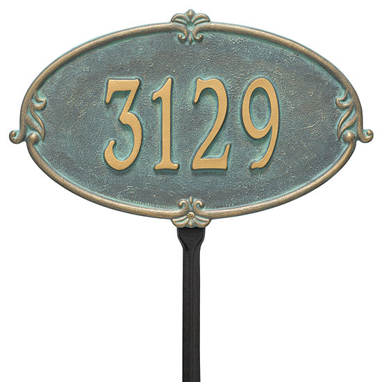 Whitehall Personalized Montecarlo Standard Lawn Address Plaque - 1 Line