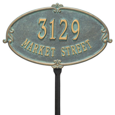 Whitehall Personalized Montecarlo Standard Lawn Address Plaque - 2 Line