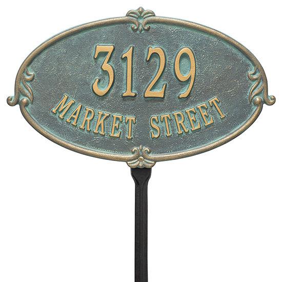 Whitehall Personalized Montecarlo Standard Lawn Address Plaque - 2 Line