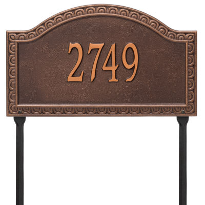 Whitehall Personalized Penhurst Grande Lawn Address Plaque- 1 Line