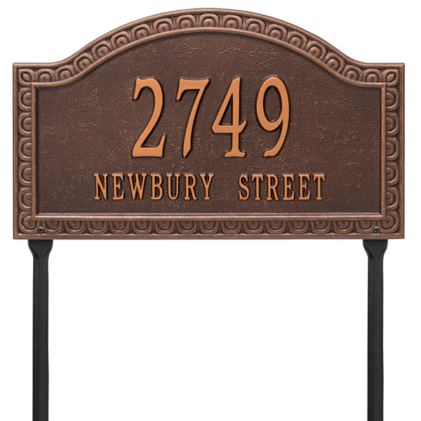 Whitehall Personalized Penhurst Grande Lawn Address Plaque- 2 Line