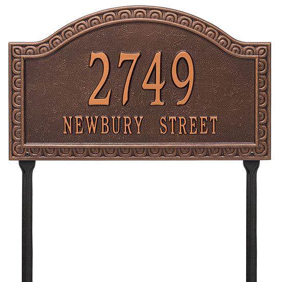 Whitehall Personalized Penhurst Grande Lawn Address Plaque- 2 Line