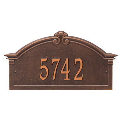 Whitehall Personalized Roselyn Arch Grande Wall Address Plaque - 1 Line