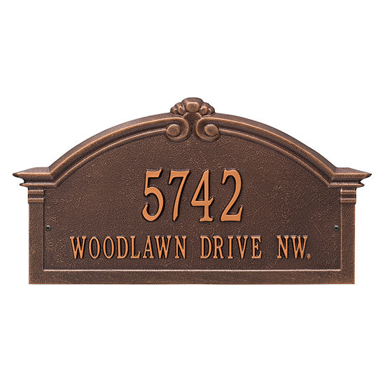 Whitehall Personalized Roselyn Arch Grande Wall Address Plaque - 2 Line