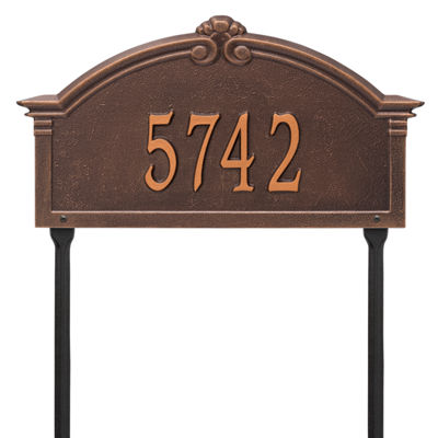 Whitehall Personalized Roselyn Arch Grande Lawn Address Plaque- 1 Line