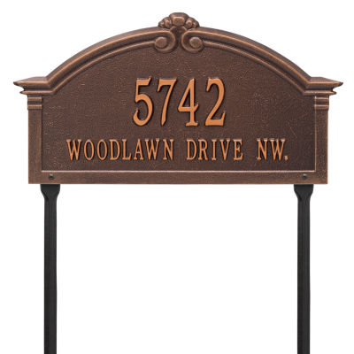 Whitehall Personalized Roselyn Arch Grande Lawn Address Plaque- 2 Line