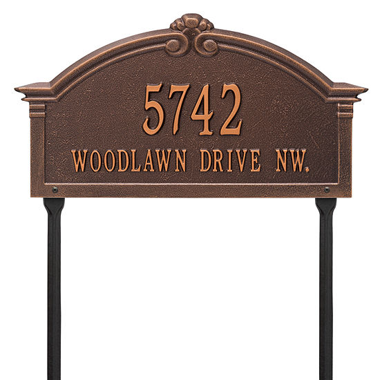 Whitehall Personalized Roselyn Arch Grande Lawn Address Plaque 2 Line