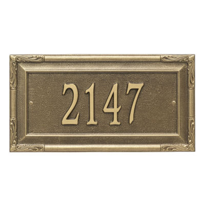 Whitehall Personalized Gardengate Grande Wall Address Plaque - 1 Line