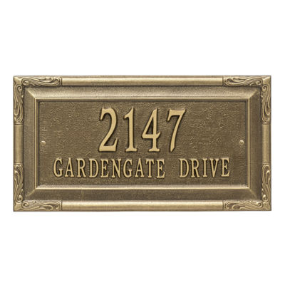 Whitehall Personalized Gardengate Grande Wall Address Plaque - 2 Line