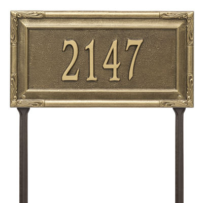 Whitehall Personalized Gardengate Grande Lawn Address Plaque - 1 Line