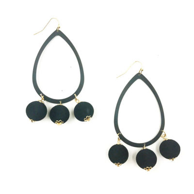 Bijoux Bar Round Drop Earrings